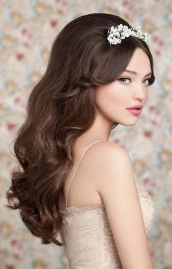 прическа вечерняя на длинные волосы локоны