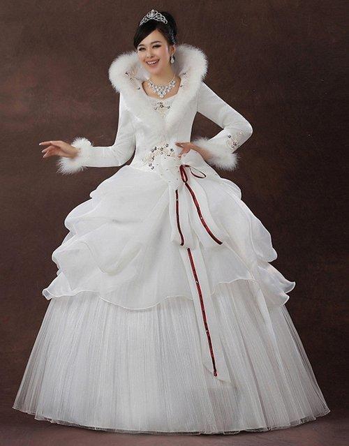Теплое свадебные платья