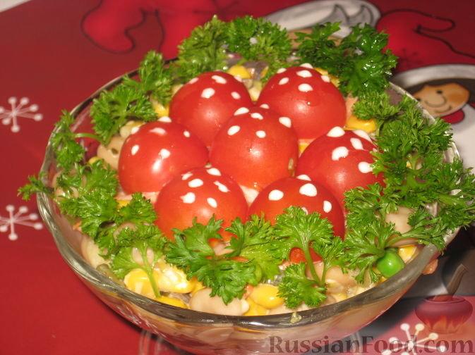 салат мухоморы фото