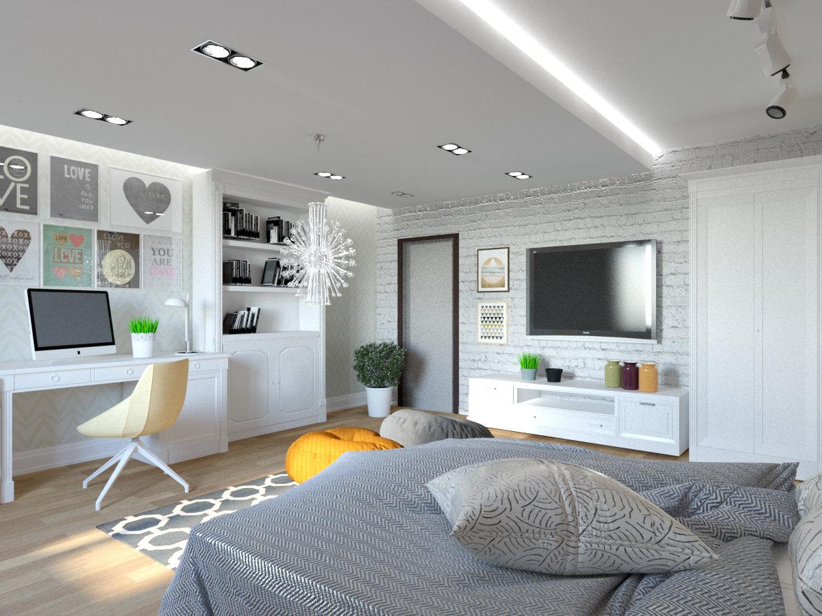 детская комната для девочки подростка в скандинавском стиле