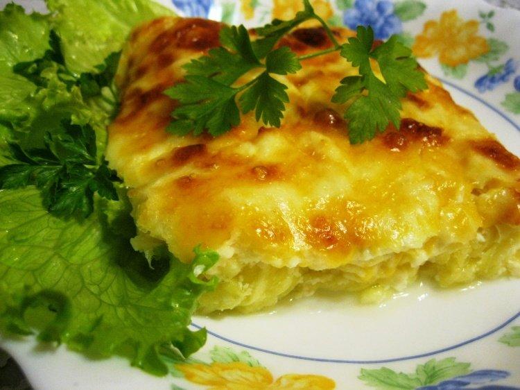 блюдо из цветной капусты и кабачка