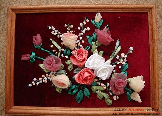 Картины своими руками из розы 387
