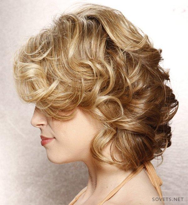 фото вечерних причесок на короткие волосы