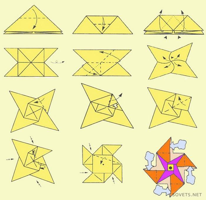 Как сделать из бумаги оригами фото пошагово