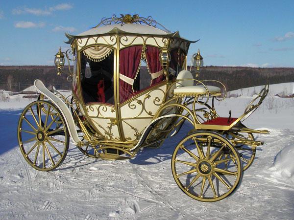 Свадебная карета зимой