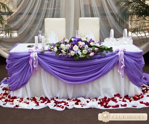 Оформить стол жениха и невесты своими руками