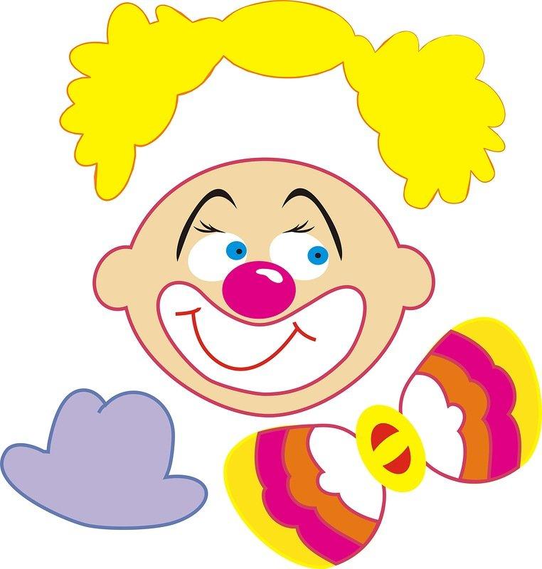 Картинка для детей лицо клоуна