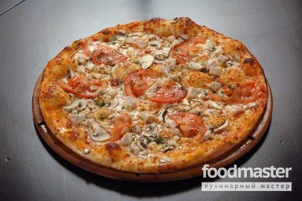 Пицца с курицей рецепт с фото
