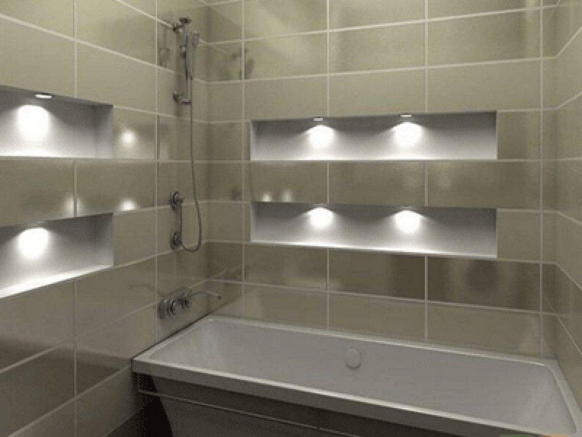 полочки из гипсокартона в ванной фото