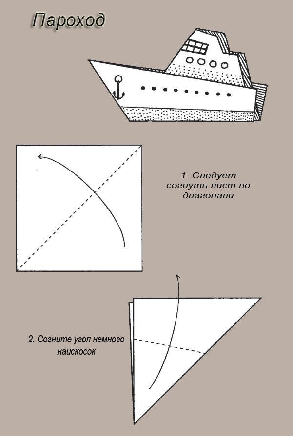 Пароход из бумаги картинки