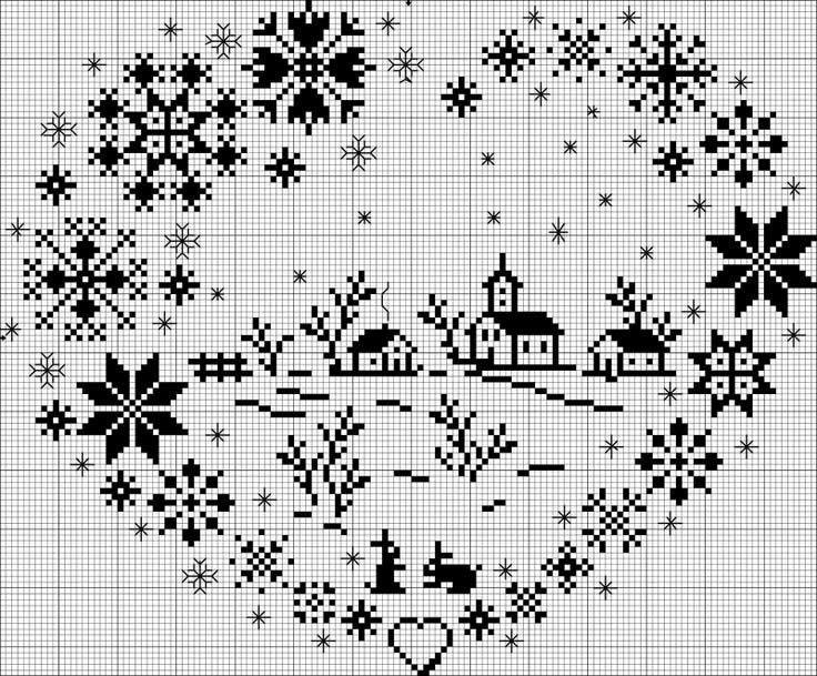 Схема прекрасно подойдет для новогоднего декора и создания простых приятных мелочей, создающих новогоднюю атмосферу в доме.