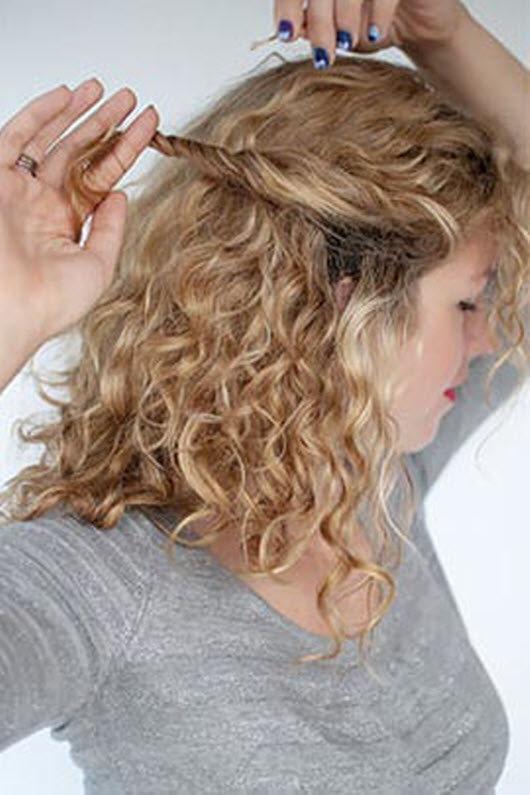 Прически в домашних условиях фото кудрявые волосы