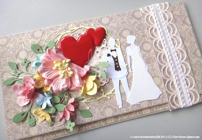 Открытка из скрапбукинга на свадьбу