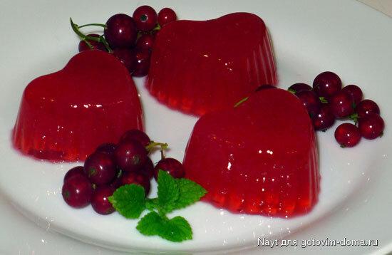 Готовим дома Желе из красной смородины/яблок • Десерты