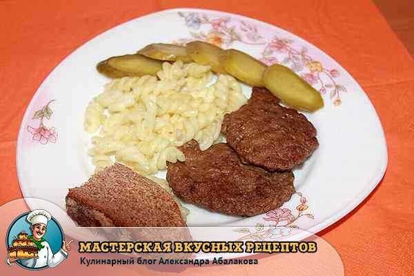 котлеты из печени свиной с манкой рецепт с фото