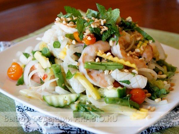 салат из морепродуктов рецепт с фото очень вкусный