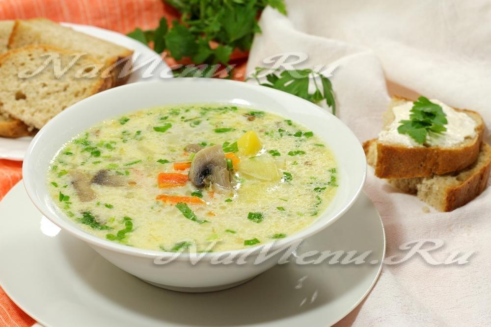 Рецепт пошагово суп с шампиньонами и сыром