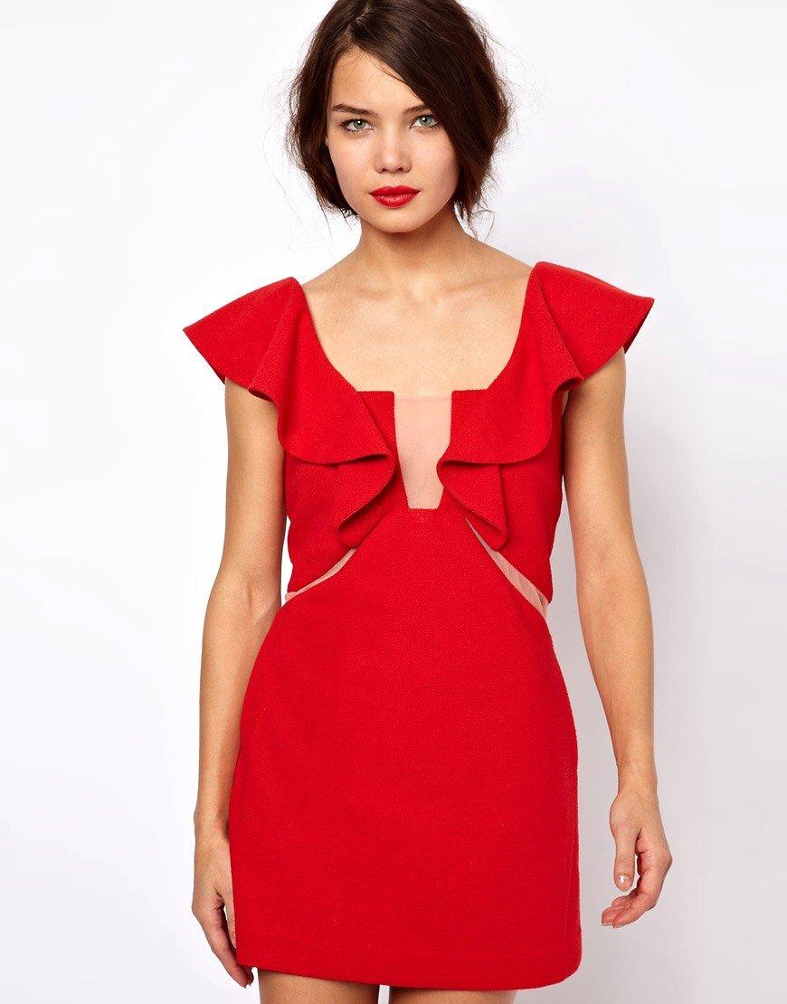 b99a8d81b6e4 Вызывающее красное платье с рюшами » — карточка пользователя orel ...