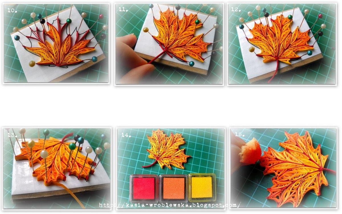 Осенние открытки из бумаги для детей