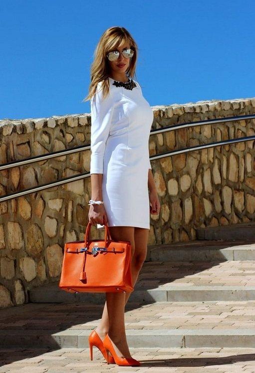 с чем носить оранжевую сумку летом при поликистозе