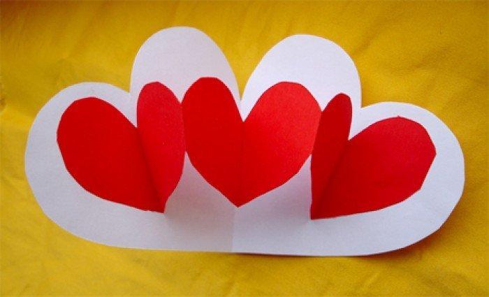 Открытки с днем святого валентина своими руками из бумаги детям, отличного настроения