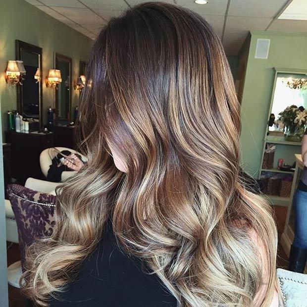 фото светлые пряди на темные волосы