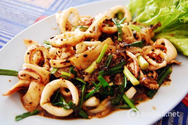 Кальмары грибами рецепты фото