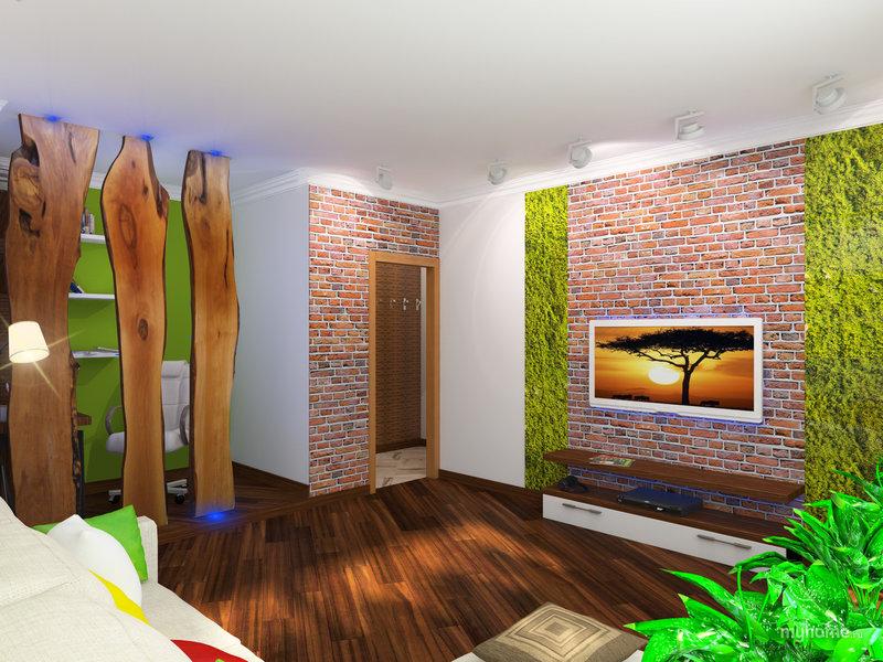 Домашний интерьер в эко-стиле  