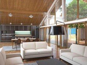 Фото интерьера гостиной, ванной, кухни, спальни в современном стиле. Модернизм в интерьере квартиры.