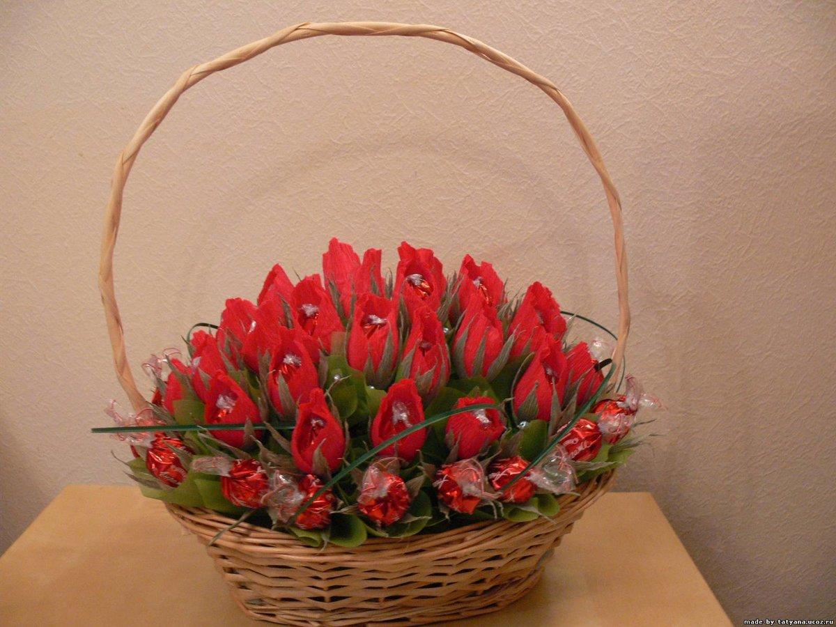 Большие букеты в корзине своими руками, цветов цветы слободе