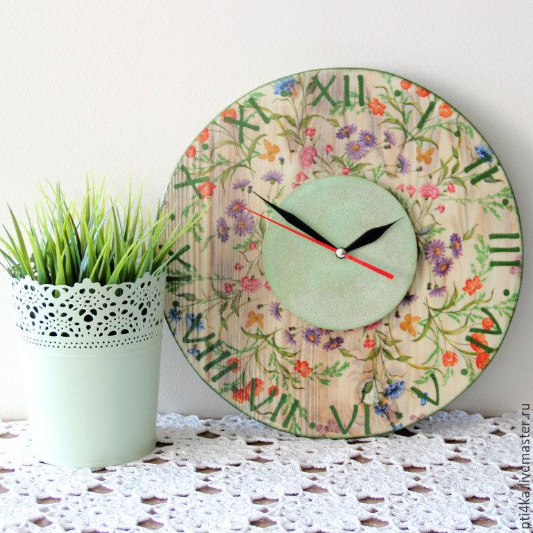 Часы настенные 'Полевые цветы'