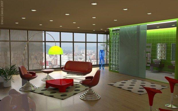 Стиль дизайна интерьера модернизм для гостинной