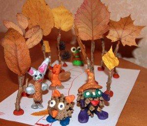 Осенние листья из пластилина. Поделки Pinterest Осенние