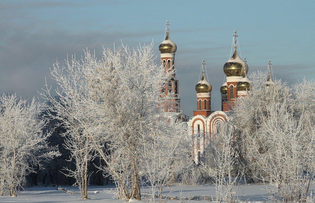 Омск зимой фото