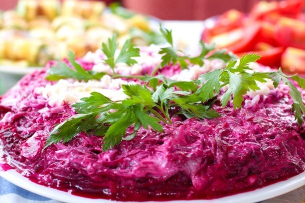 Рецепты салатов с фото селедка под шубой без яблокоы