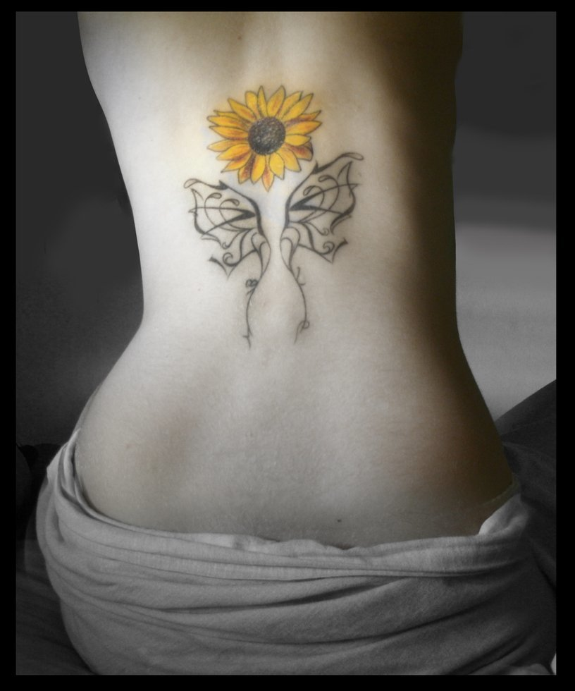 sunflower tattoo ideas - 816×980