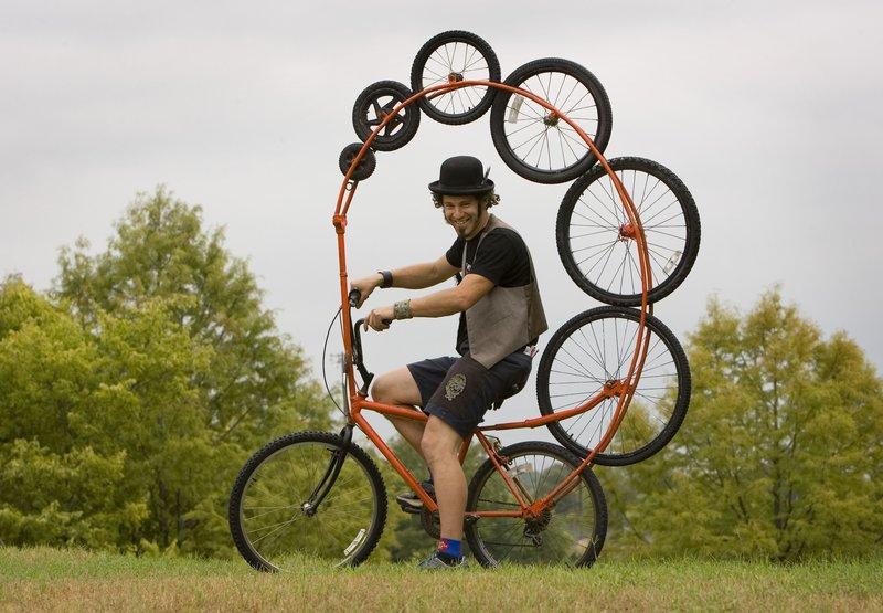 смешной велосипед
