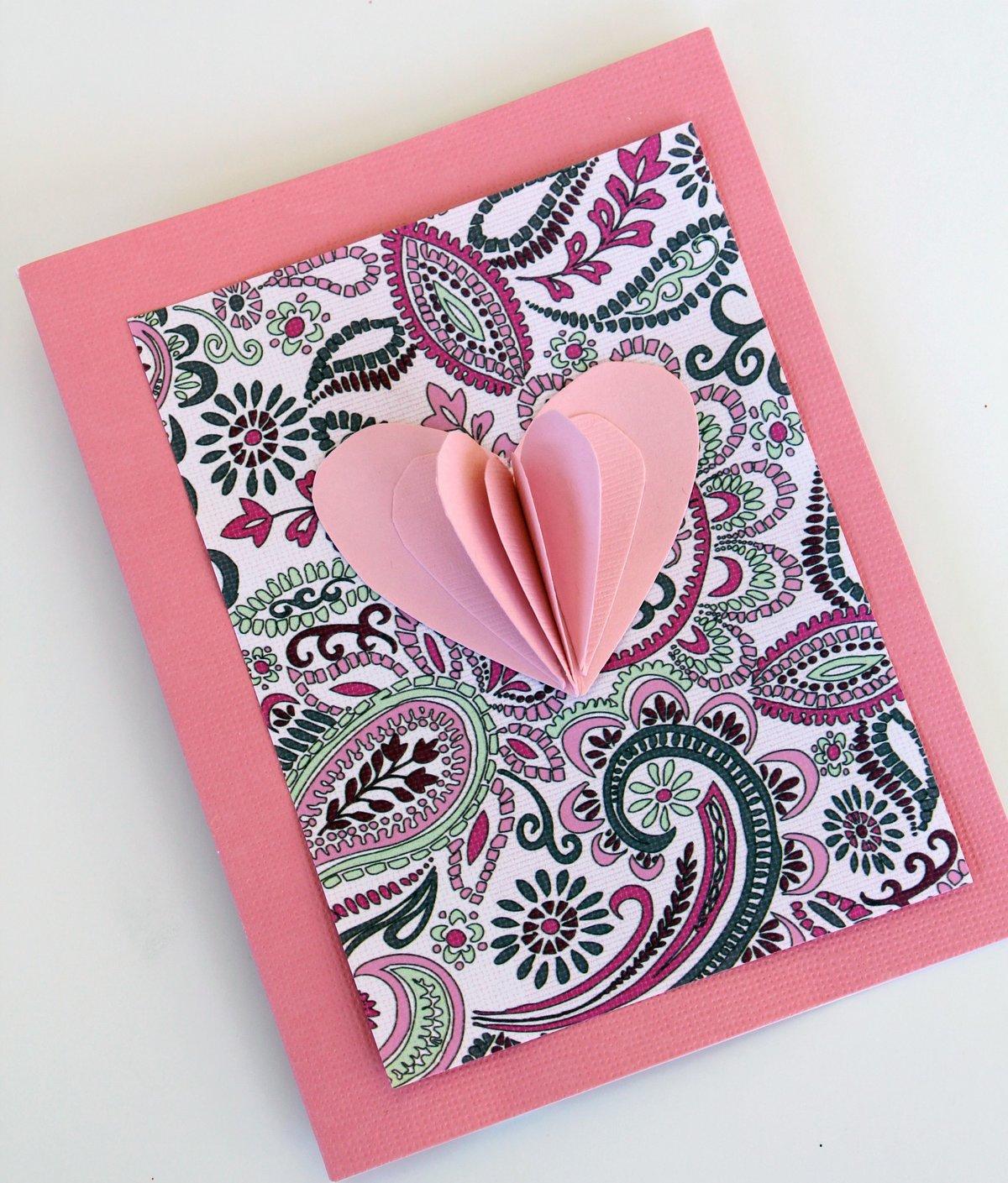 Красивая открытка для девушки своими руками