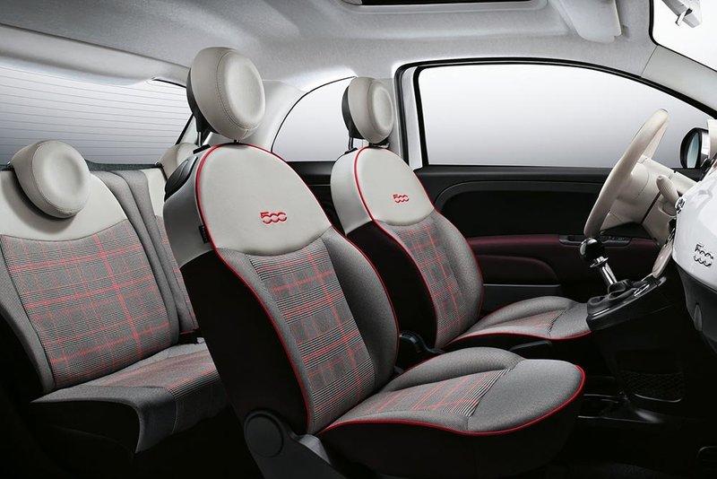 Fiat 500 2015. Интерьер салона