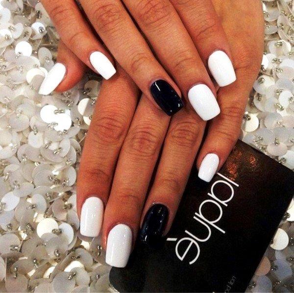 Черно-белый маникюр - 84 55
