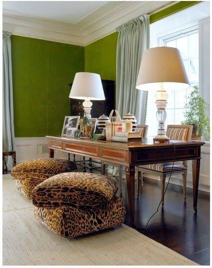 Веселый домашний кабинет с  леопардовым принтом!