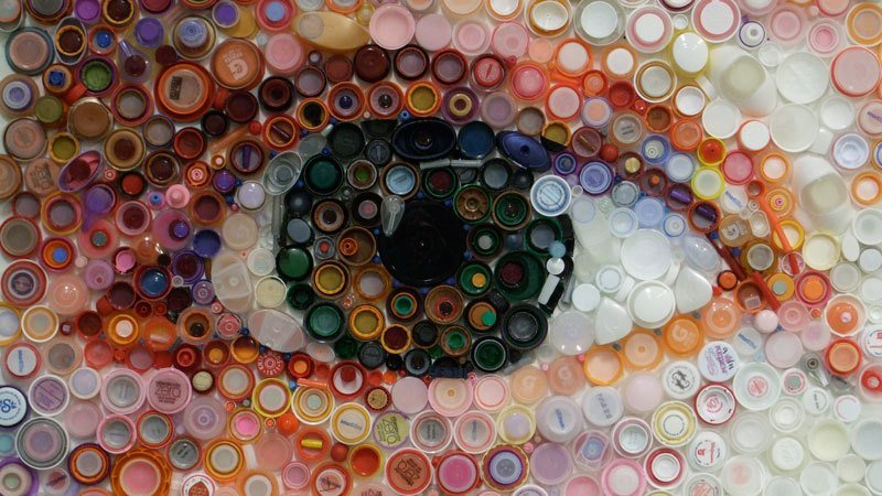 мозаика из пробок от пластиковых бутылок картинки