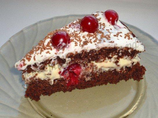 шоколадный торт сзамороженными вишнями рецепт с фото-хв9