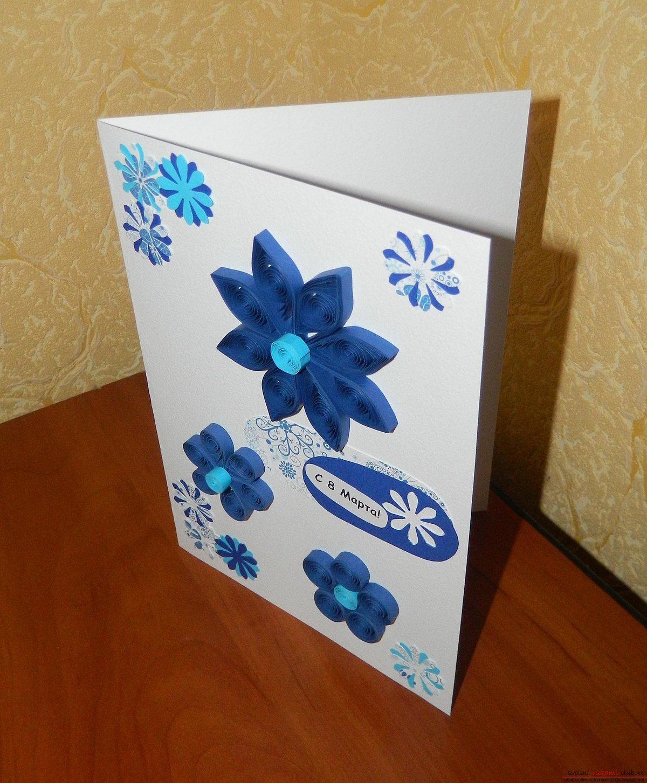 Поэтапно делать открытку на 8 марта, мастеров-объемные открытки школьные