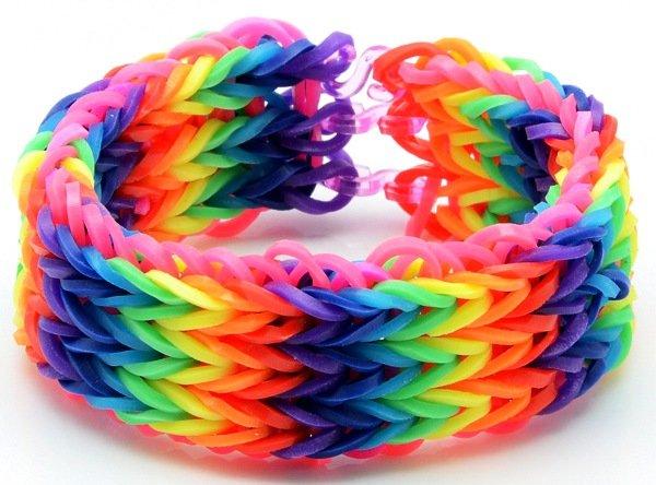 Популярные схемы плетения браслетов из резинок.
