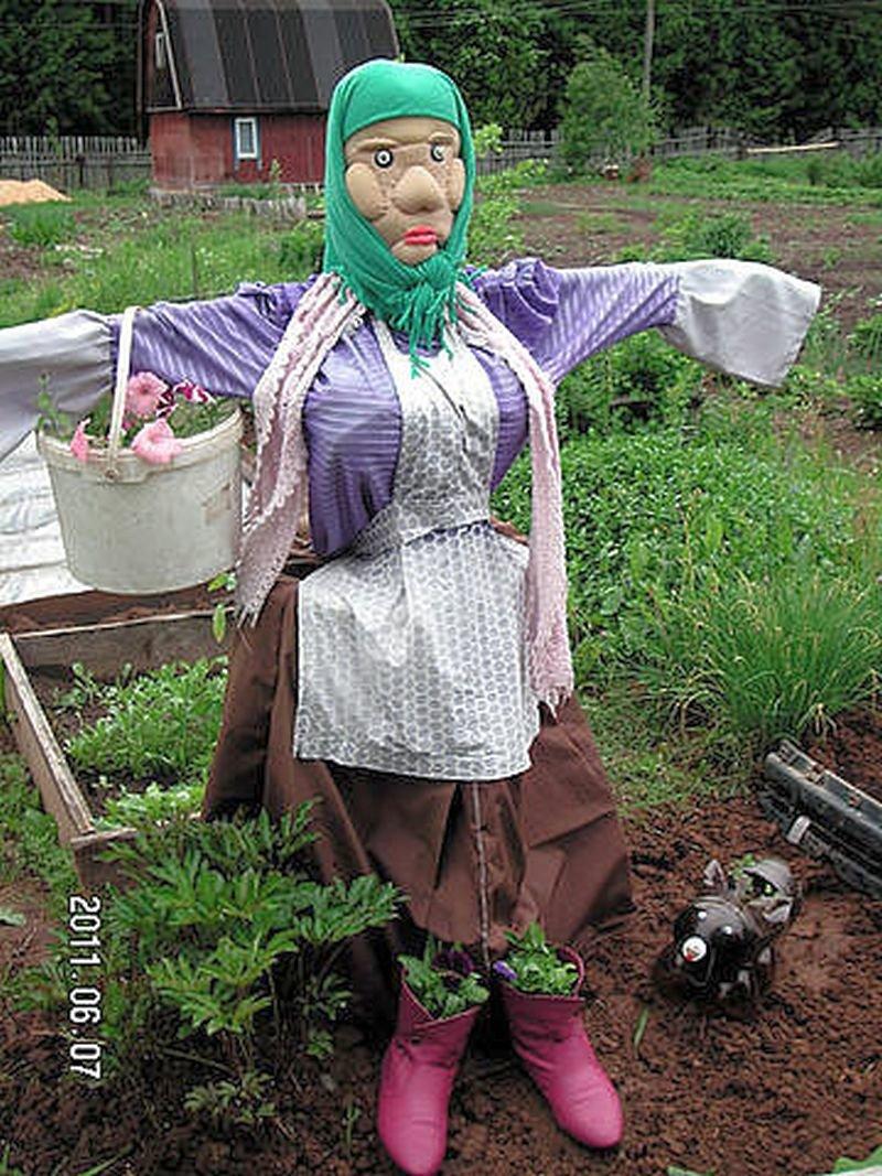 оформления чучело в огород своими руками фото свой долг
