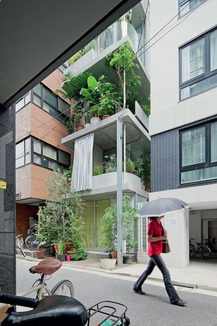 Удивительный без единой стены дом-сад в Токио