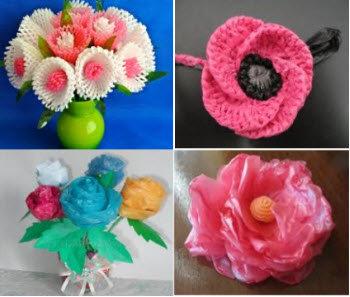 Поделки цветы из подручных средств 418