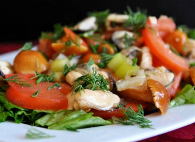 салат с мидиями и шампиньонами особенность любого термобелья