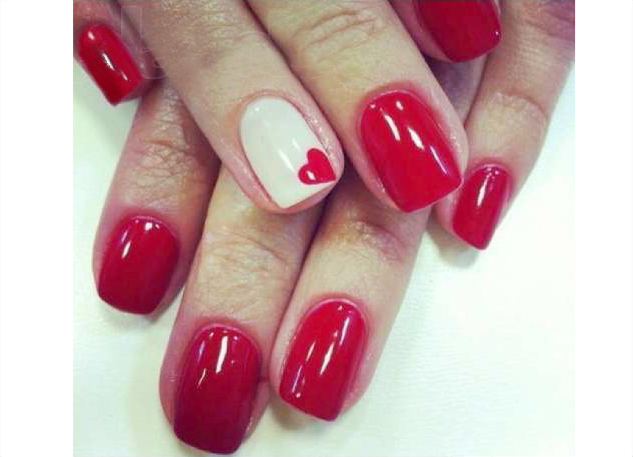 ногти гель лак красные с рисунком - Тюменский издательский дом